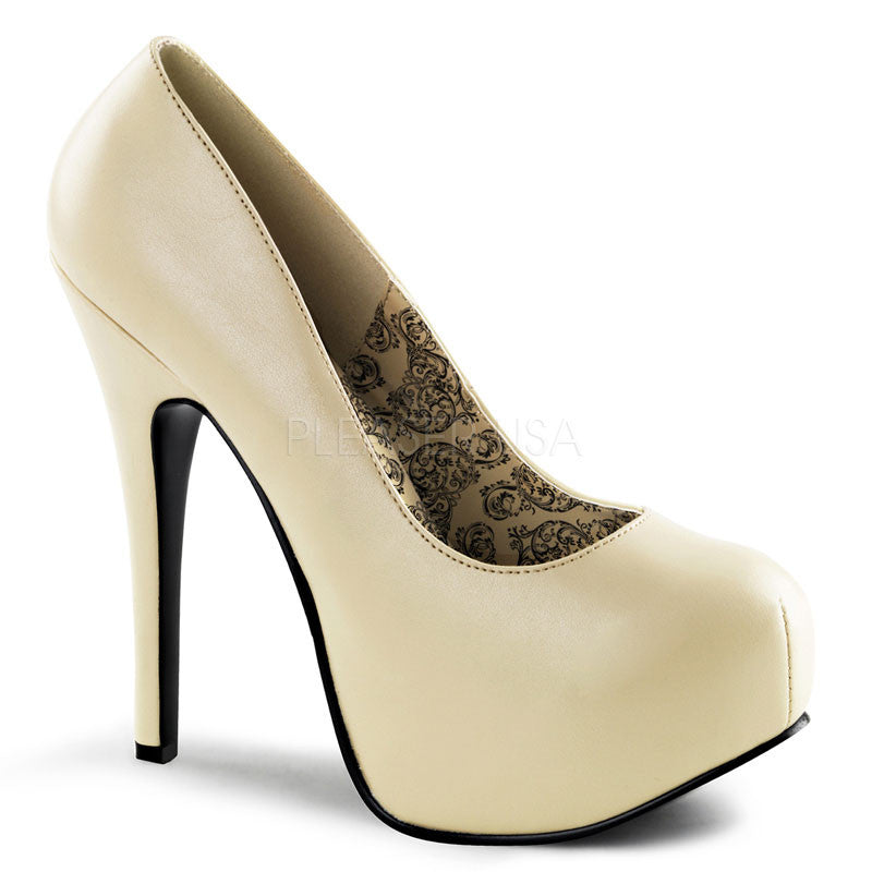 Bordello,Bordello TEEZE-06 Cream Pu Pumps - Shoecup.com