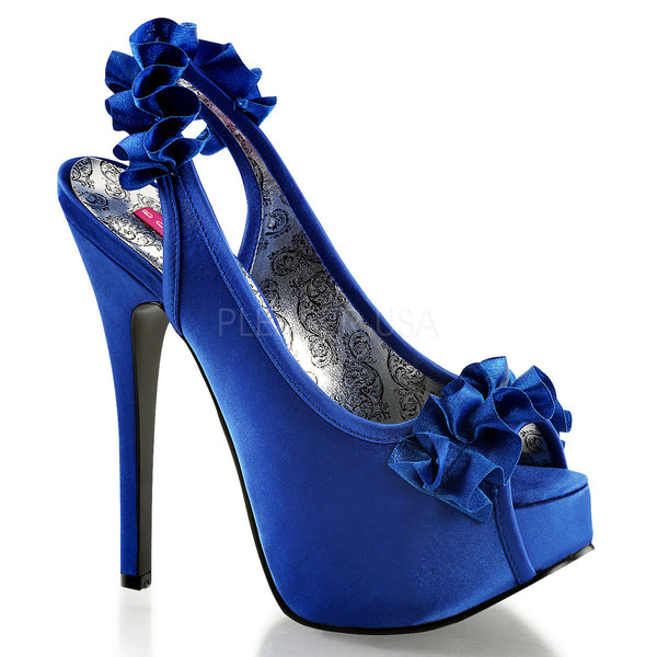 Bordello,Bordello TEEZE-56 Navy Blue Satin Sandals - Shoecup.com