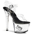 PLEASER TIPJAR-708-5 Clear-Black-Clear Tip Jar Sandals - Shoecup.com