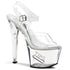 PLEASER TIPJAR-708-5 Clear Tip Jar Sandals - Shoecup.com