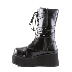 DEMONIA TRASHVILLE-205 Men's Black Pu Vegan Boots - Shoecup.com - 2