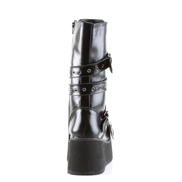 DEMONIA TRASHVILLE-205 Men's Black Pu Vegan Boots - Shoecup.com - 5