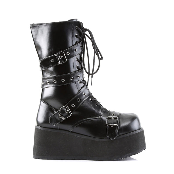 DEMONIA TRASHVILLE-205 Men's Black Pu Vegan Boots - Shoecup.com - 3