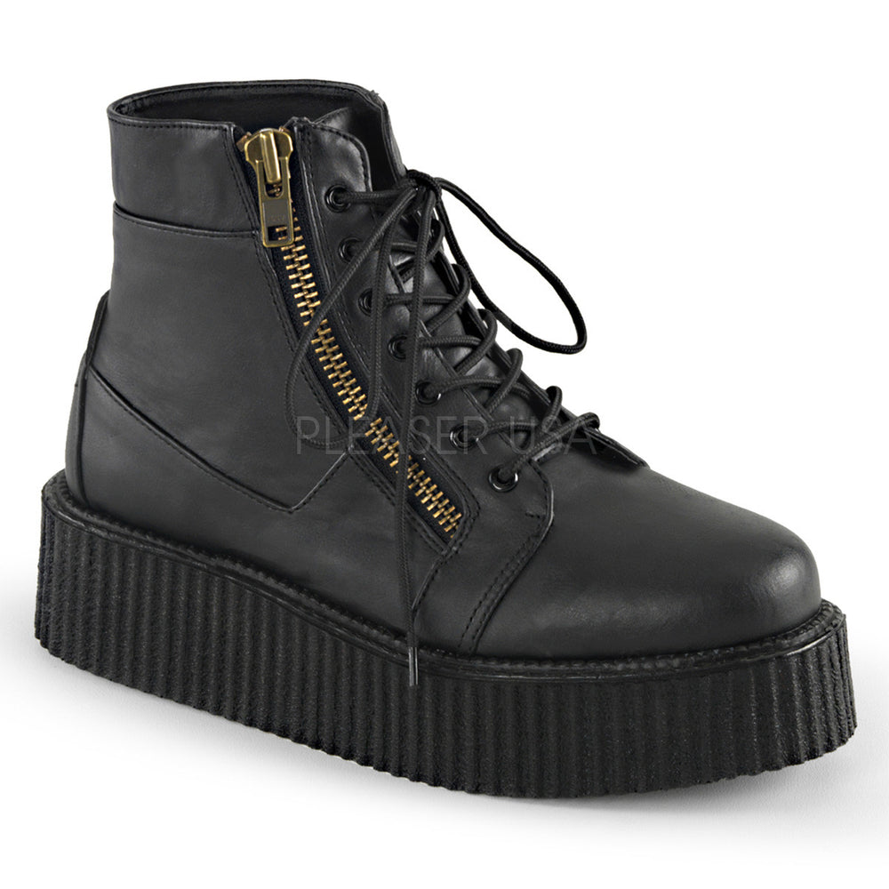 Demonia V-CREEPER-571 Men's Black Vegan Leather Boots