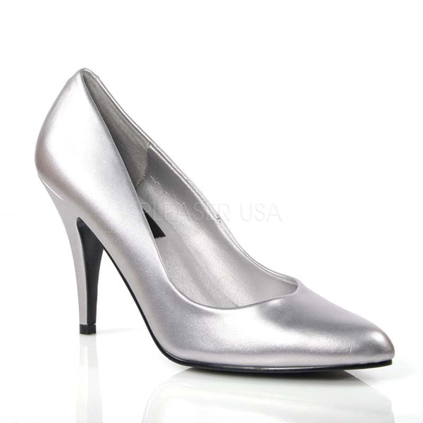 Pleaser VANITY-420 Silver Pu Classic Pumps - Shoecup.com