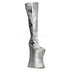 VIVACIOUS-3016 Silver Glitter Thigh Boots With Black Lightning Bolt - Shoecup.com