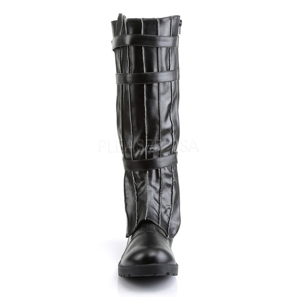 Men's Black Pu Super Hero Boots