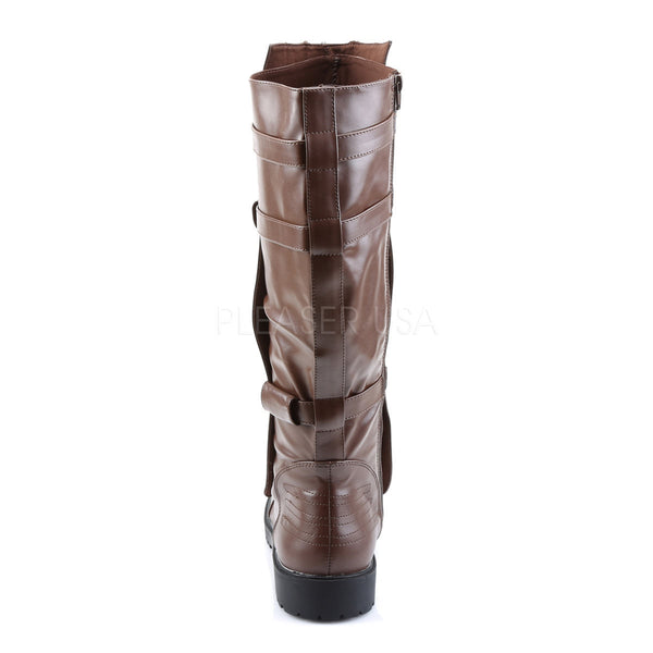 Men's Brown Pu Super Hero Boots