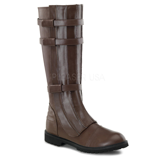 Men's Brown Pu Super Hero Boots - Shoecup.com
