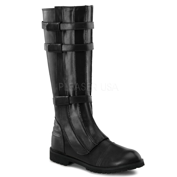 Men's Black Pu Super Hero Boots - Shoecup.com