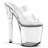 PLEASER XTREME-802 Clear Platform Sandals - Shoecup.com