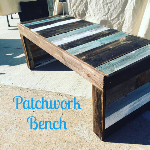 Patchwork Bench - The Crafty Ginger