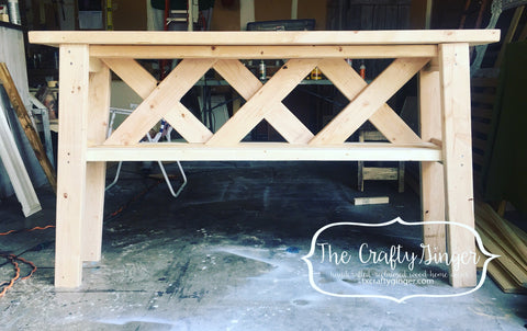 Layered X Entryway Table - The Crafty Ginger