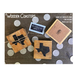 Wood Coasters with State Shape