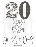 20 Ways to Letter • DIY •