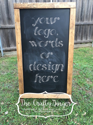Chalkboard Sandwich Board - The Crafty Ginger