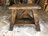 Layered X Side Table - The Crafty Ginger