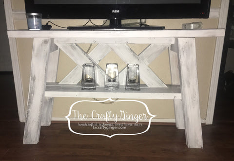 Layered X Console Table - The Crafty Ginger