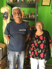 Juan Jose Ramos Medrano and his wife Artist Yolanda Acero Lopez
