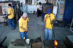 Glass Blowing Craftsmen at work