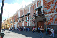 Talavera Tiles cover buildings in Historic Puebla