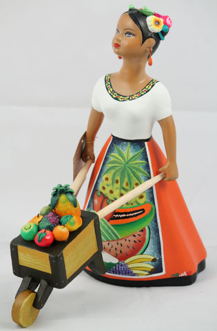 Lupita Doll with Cart full of Fresh Vegetables