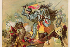Horse Conquistador Fighting Painting
