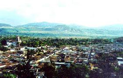 Arial view of Zinapecuaro Michoacan