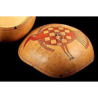 Native American Gourd By Master Artist/Craftsman Hawiyeh-Ehi Museum Quality Art