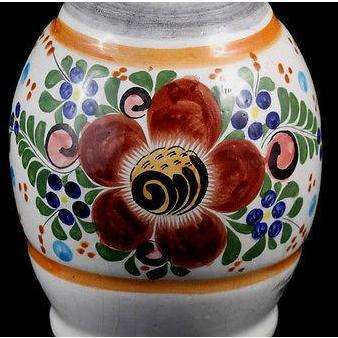 Vintage Mexican Ceramic Vase/Vessel, Hand Made Hand Painted Initialed by Artist