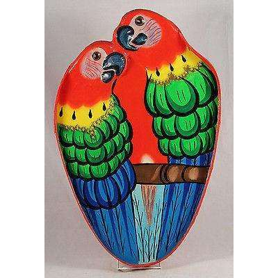 Wall Hanging Parrot Platter Wood/Paper Mache Caribbean/South America Hand Made
