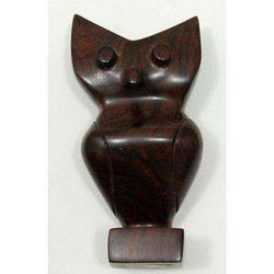 Owl Wood Iron Made Decrative Collectable Figurine Natural Materials Solid Mexico