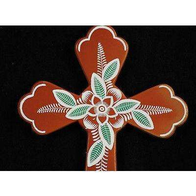 Mexican Ceramic Cross by M. Jimon Barba Collectable Folk Art 6