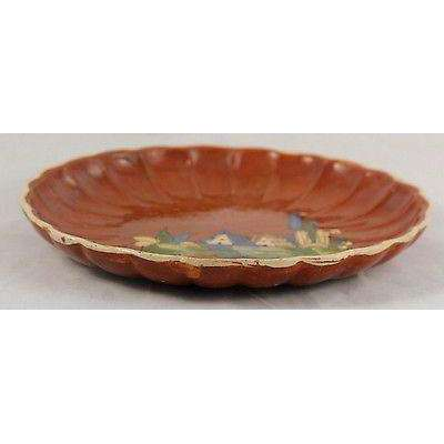 Vintage Mexican Ceramic Plate Rustic, Handmade 1930's-40's.