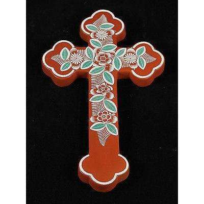 Mexican Ceramic Cross Fernando Jimon Melchor Handmade #2