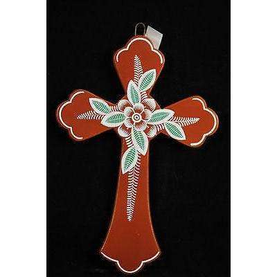 Mexican Ceramic Cross by M. Jimon Barba Collectable Folk Art #5