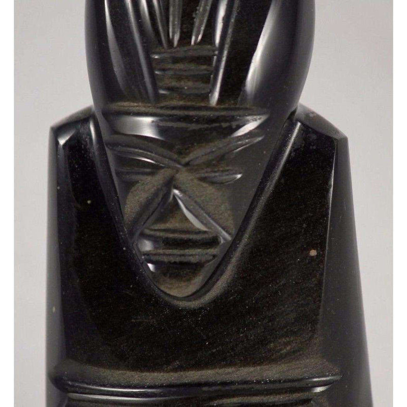 Black Onyx Man Figurine from Mexico Folk Art Hand Carved Decorative/Collectable