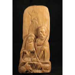 Vintage Rustic Wood Nativity Scene Hand Carved Religious Mexico Folk Art