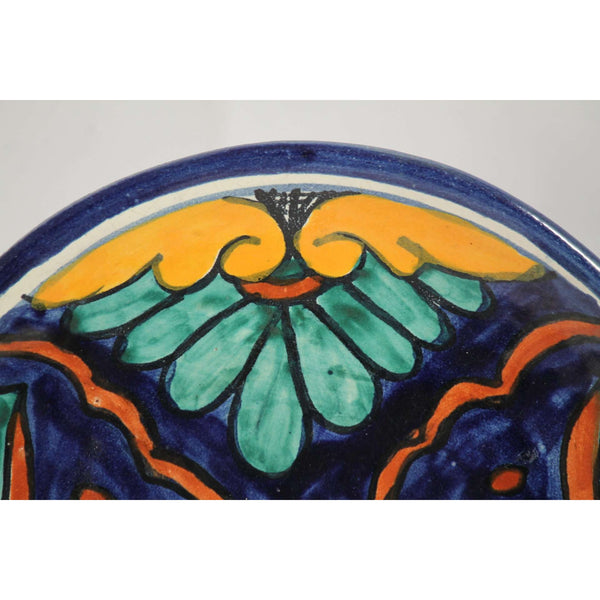 Handmade Mexican Ceramic Plate Signed