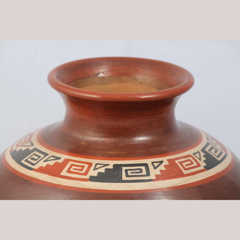 Ceramic Vessel Ventura Hernandez Pottery Mexico Fine Collectible Folk Art Glyphs