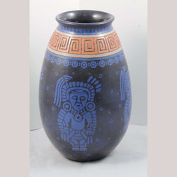 Lg Mexican Ceramic Vase/Jar Museum Quality by Taller Solis Hernandez