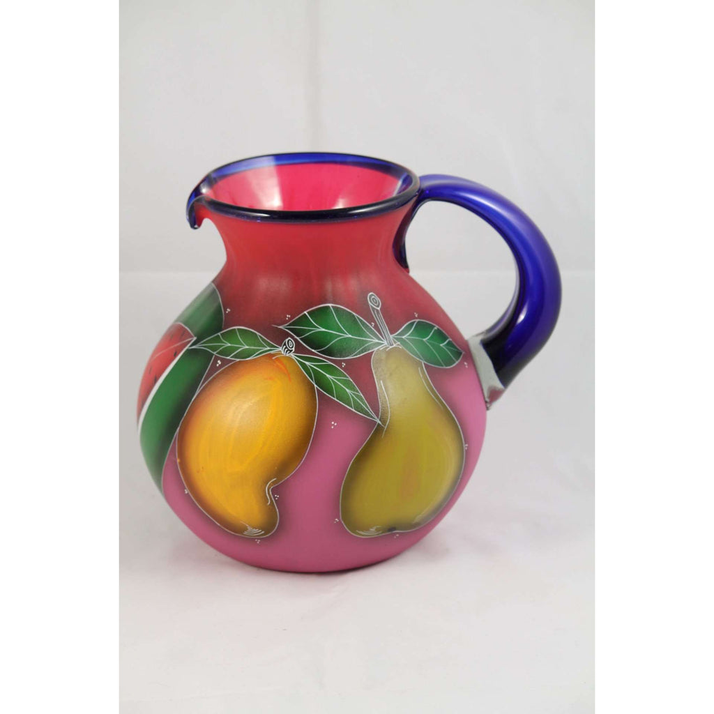 mexican pitcher hand fruit glass