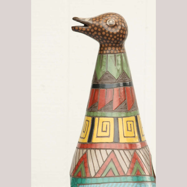 Huge Ceramic Duck Vase made by Master Potter Hernandez -Aimianza