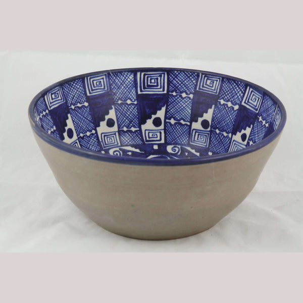 Lg Ceramic Bowl Fine Folk Art Master Potter Carmen Chichipan