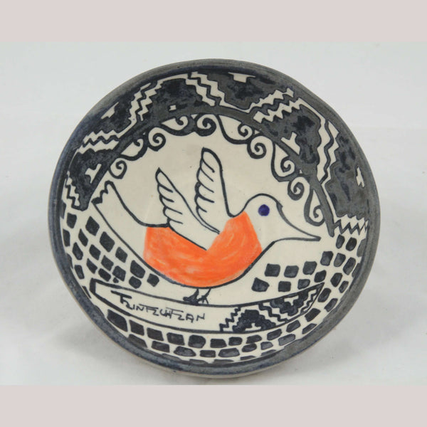 New Ceramic/Pottery Bowl/1 Bird Mexican Folk Art Collectible Chichipan Family