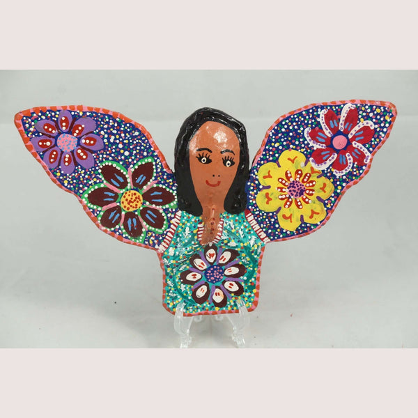 Mexican Hanging Paper Mache Smiling Angel Folk Art Collectible Handmade New #2