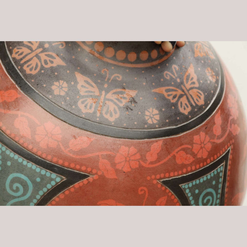 Huge Ceramic Vase Mexican Fine Folk Art by Adilene Rodriquez Vasquez