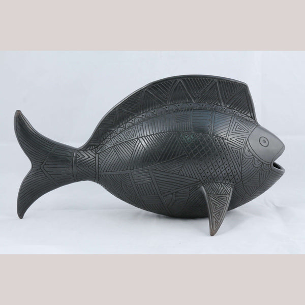 X-Lg Ceramic Fish Mexican Fine Folk Art German Hernandez Viafuerte