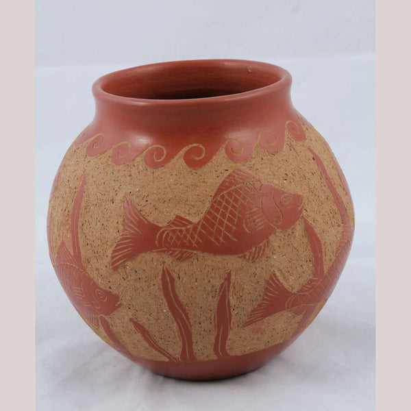 Ceramic Vase Ventura H Benitz Potter Mexico Fine Collectible Folk Art Incised