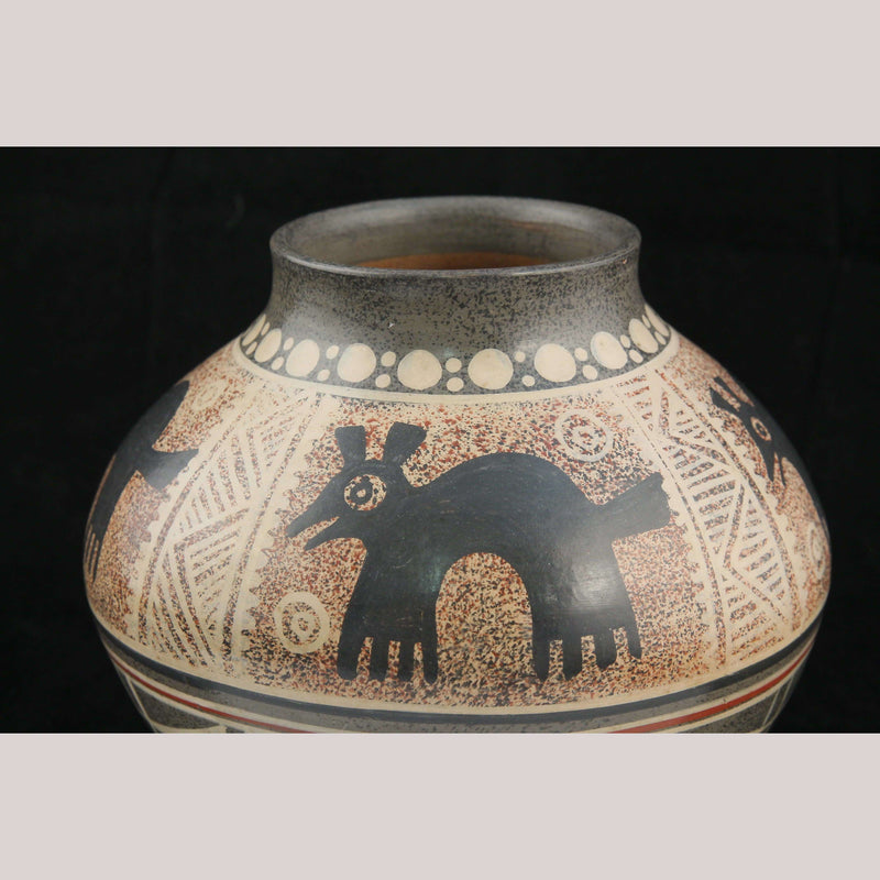 Ceramic Vase Ventura H Benitz Mexican Fine Folk Art Pre-Hispanic Animals Decor